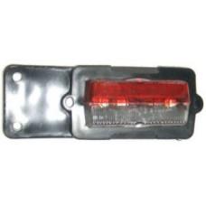 Breddmarkeringslampa, röd/vit